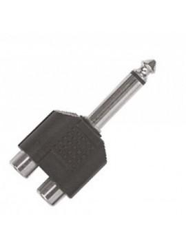 Adaptador PROEL 2 RCAFemea - Jack Macho 6.3mm mono
