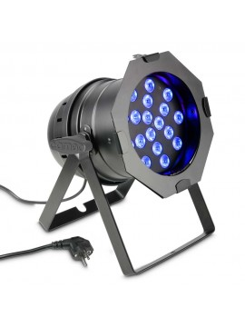 Projector LED PAR64 RGB 18x3w Black