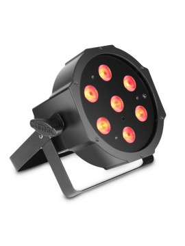 Projector LED FLAT PAR  RGB 7x3w Black