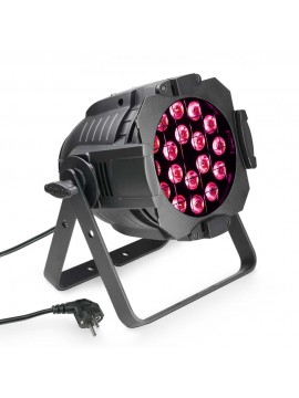 Projector LED PAR64 CAN RGB 18x3w Black