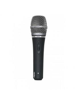 Microfone dinâmico PROEL Cardioide c/ botão ON/OFF