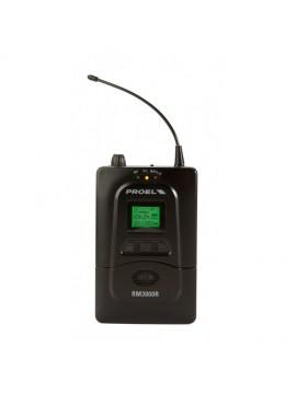 Sistema In-EAR PROEL UHF PLL 8 Canais Stereo