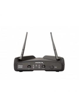 Sistema PROEL duplo Headset s/ fio UHF