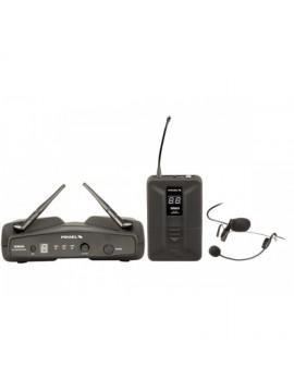 Sistema Headset s/ fio PROEL UHF/PLL 4 ch.